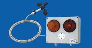 Wycofany z produkcji. A-064 – anemometr sygnalizujący kompaktowy z lampą i syreną, IP55, w komplecie czujnik z kablem 10m.