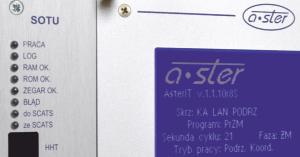 AsterIT/S – akomodacyjny, systemowy sterownik drogowej sygnalizacji świetlnej współpracujący z systemem Sprint/ITS/SCATS