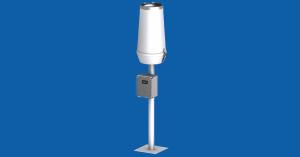 TPG-125-* – deszczomierz korytkowy 0,1mm/200cm2, z licznikiem sumacyjnym, z postumentem rurowym