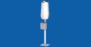 A-ster TPG-127xDeszczomierz korytkowy 0,1mm200cm2, rejestracja sumy za okres pomiarowy, przekaz danych przez GPRS do serwera AsterGate oraz lokalnie USB, z postumentem rurowym