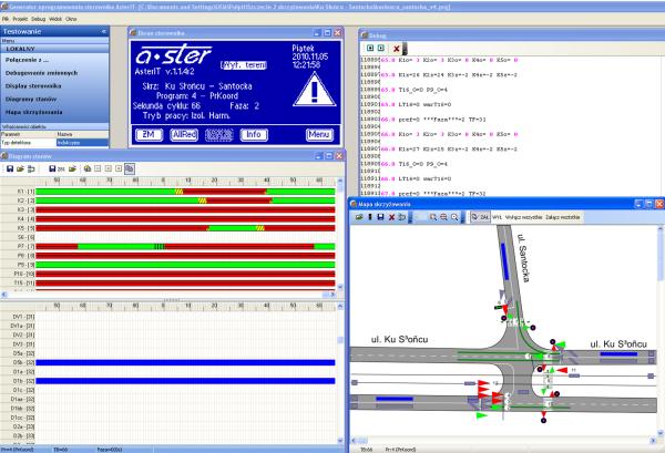 AsterIT programowanie sterownika sygnalizacji świetlnej